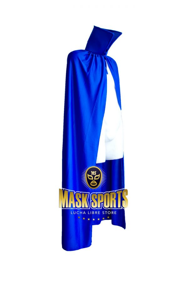 Adult 54 Lucha Libre Halloween Costume Cape Solid Blue