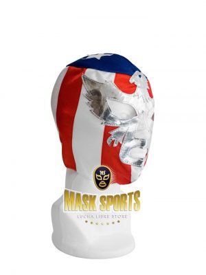 Patriot America adult lucha libre wrestling mask stripes
