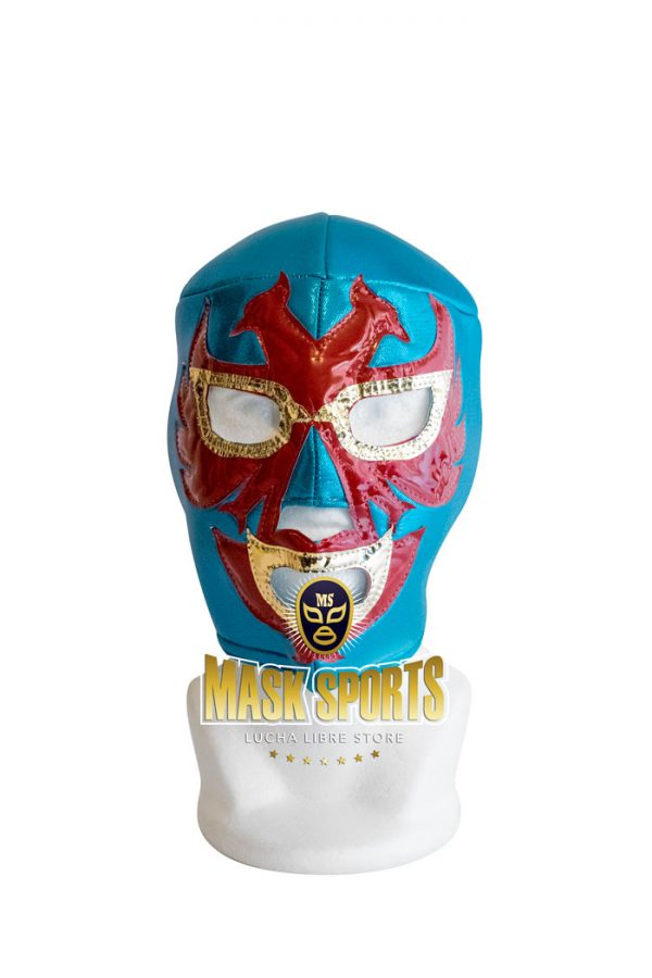 Dos Caras lucha libre wrestling mask Turquoise and Red