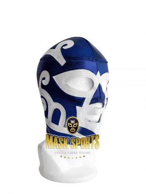 Huracán Ramírez adult lucha libre wrestling mask blue & white.