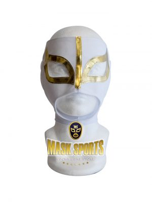 Sexy Lady adult lucha libre wrestling mask White & Gold