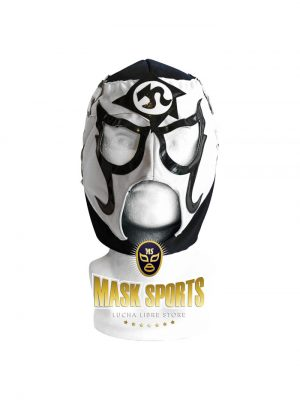 Pentagon Jr. lucha libre mask white black gold