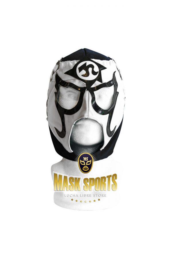 Pentagon Jr. lucha libre mask white black gold