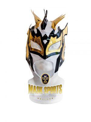 Kalisto lucha libre mask white black gold