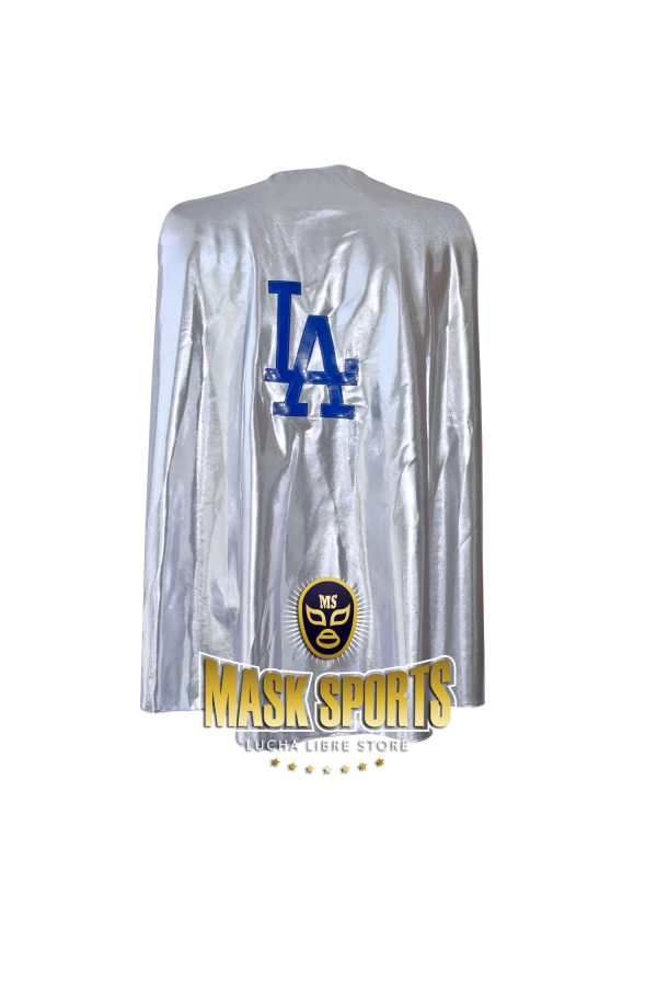 LA Dodgers Silver Metallic Cape