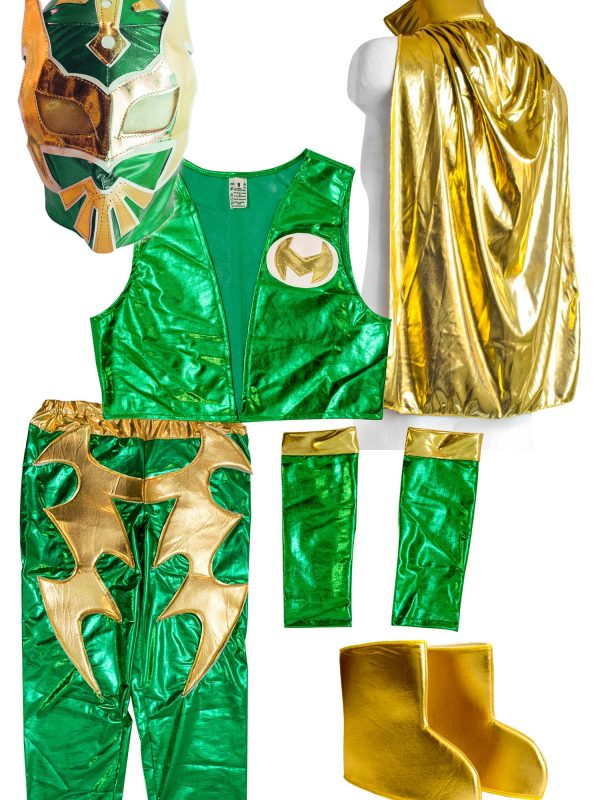 sc 1 st  Mask Sports & Sin Cara Green Kid Costume Lycra Pants mask and vest