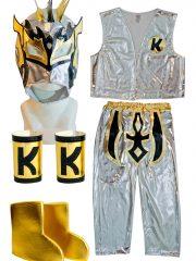 Kalisto Silver Kid Costume Lycra Pants mask and jacket