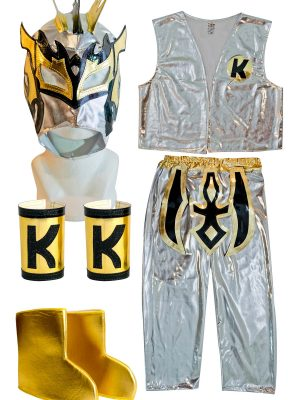 Kalisto Silver Kid Costume Lycra Pants mask and jacket