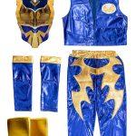 Sin Cara blue kid costume – Lycra pants mask and vest