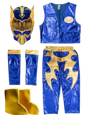 Sin Cara blue kid costume - Lycra pants mask and vest