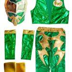 Sin Cara Green Kid Costume Lycra Pants mask and vest