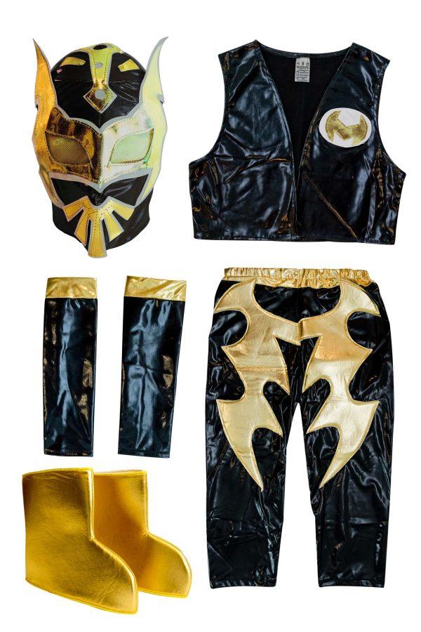 Sin Cara black Kid Costume - Lycra pants mask and vest