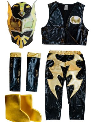 Sin Cara black Kid Costume - Lycra pants mask and vest