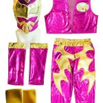 Sin Cara Pink Kid Costume – Lycra pants mask and vest