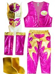 Sin Cara Pink Kid Costume - Lycra pants mask and vest