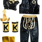 Kalisto Black Kid Costume Lycra Pants mask and vest