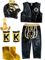 Kalisto Black Kid Costume Lycra Pants mask and vest