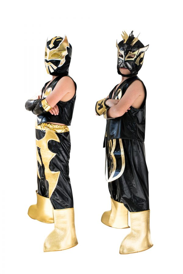 Kid Costume Combo Sin Cara and Kalisto in Black color
