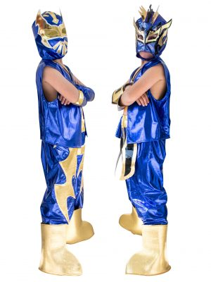 Kid Costume Combo Sin Cara and Kalisto in Blue color