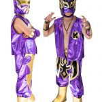 Kid Costume Combo Sin Cara and Kalisto in Purple color
