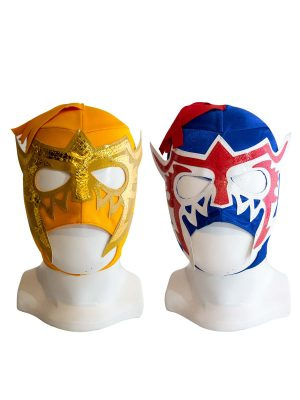dbf8c136ea62 Escorpion Dorado Combo Economic Kid Mask blue and gold