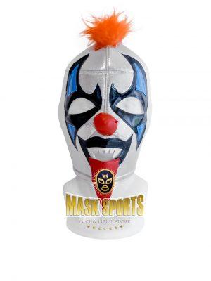 Psycho Clown wrestling mask - Silver / Black