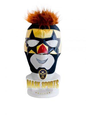 SUPER MUÑECO wrestling mask - Black and yellow