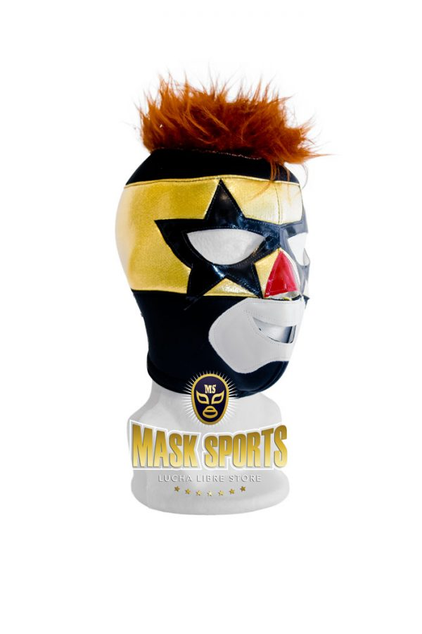 SUPER MUÑECO wrestling mask – Black and yellow
