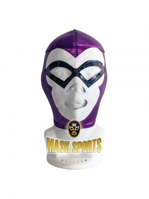 EL FANTASMA wrestling foam lining mask purple white