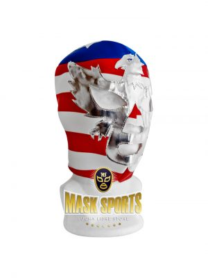 PATRIOT AMERICA wrestling foam lining mask horizontal stripes