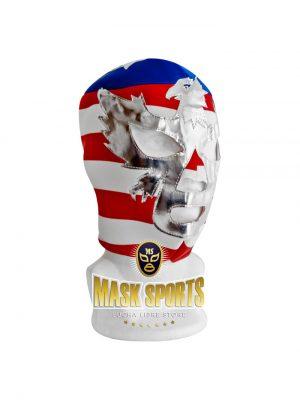 PATRIOT AMERICA wrestling foam lining mask horizontal stripes
