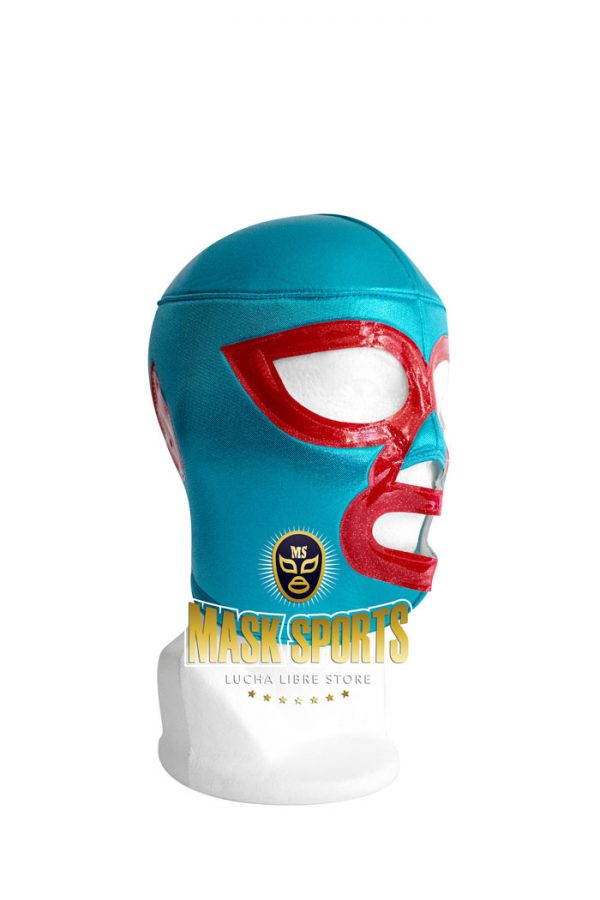 NACHO LIBRE wrestling foam lining mask – turquoise / red