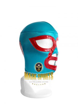 NACHO LIBRE wrestling foam lining mask - turquoise / red