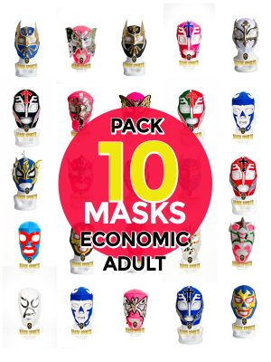 Wholesale Economic Adult pack of 10 lucha libre masks