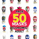 Wholesale Economic Adult pack of 200 lucha libre masks