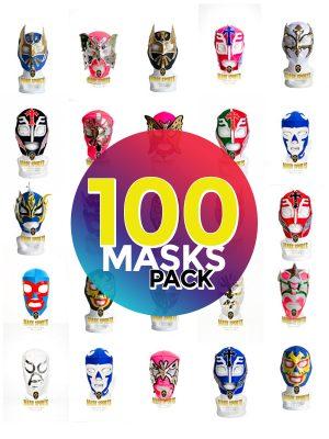 Wholesale Economic Kids pack of 100 lucha libre masks