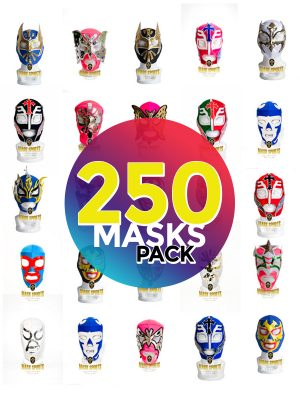 Wholesale Economic Kids pack of 250 lucha libre masks