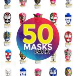 Wholesale Economic Kids pack of 50 lucha libre masks