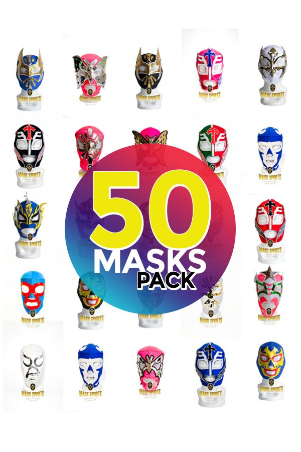 Wholesale Economic Kids pack of 50 lucha libre masks