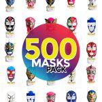 Wholesale Economic Kids pack of 500 lucha libre masks