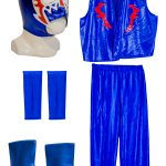 ESCORPION DORADO BLUE Kid Lycra Pants & Mask Costume