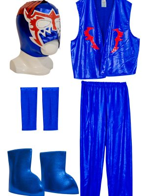 ESCORPION DORADO BLUE Kid Lycra Pants & Mask Costume