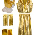 ESCORPION DORADO GOLD Kid Lycra Pants & Mask Costume