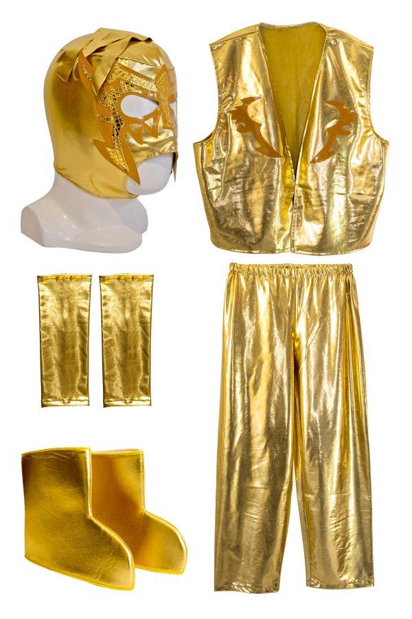 ESCORPION DORADO GOLD Kid Lycra Pants & Mask Costume