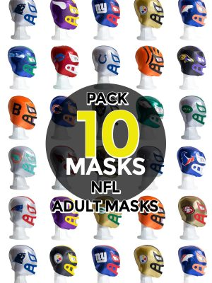 Wholesale NFL Assorted Teams pack of 10 lucha libre foam adult masks