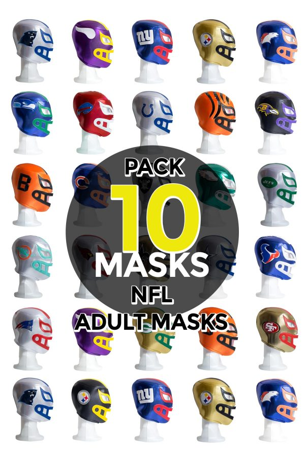 Wholesale NFL Assorted Teams pack of 10 lucha libre foam adult masks