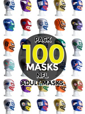 Wholesale NFL Assorted Teams pack of 100 lucha libre foam adult masks