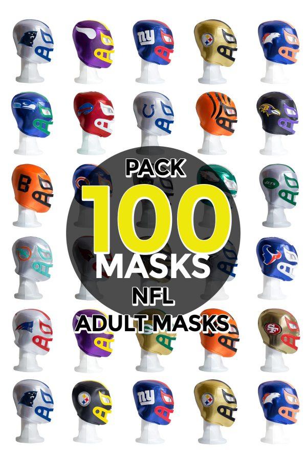 Wholesale NFL Assorted Teams pack of 100 lucha libre foam adult masks