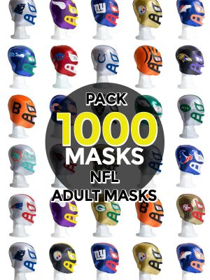 Wholesale NFL Assorted Teams pack of 1000 lucha libre foam adult masks
