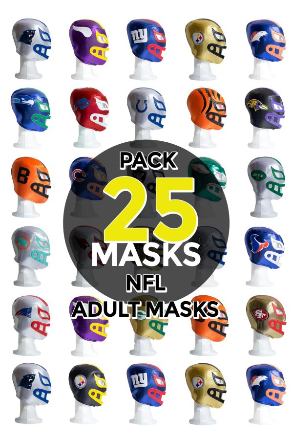 Wholesale NFL Assorted Teams pack of 25 lucha libre foam adult masks